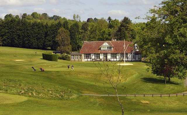 A view of the clubhouse at Cirencester Golf Club