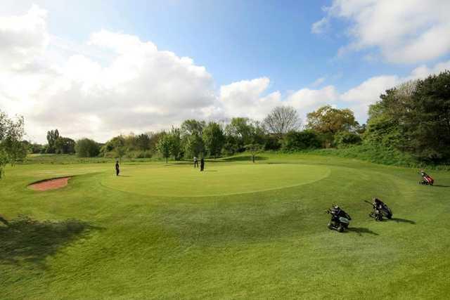 A view of green #15 at Filton Golf Club