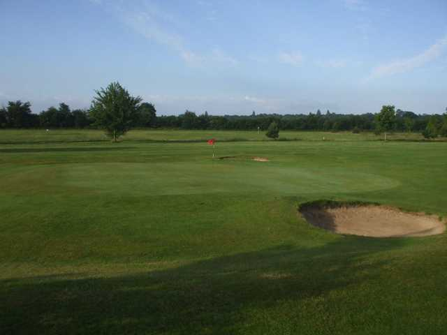 The hidden greenside bunkers at Rodway are to be avoided on the approach