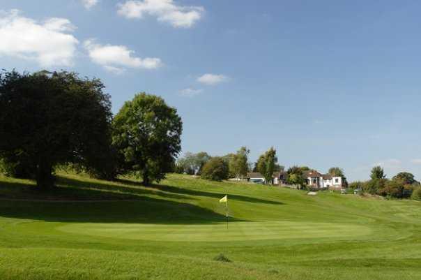 A view of green at Addington Court Golf Centre