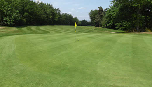 A view of the 18th hole at Addington Golf Club