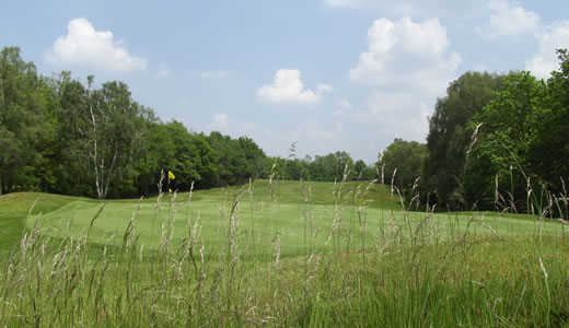 A view of the 8th green at Addington Golf Club