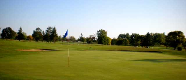A view of the green from Highland Lake Golf Course
