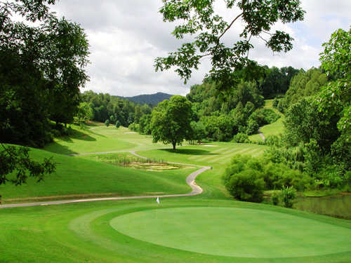 A view of the 12th hole at Buffalo Valley Golf Course