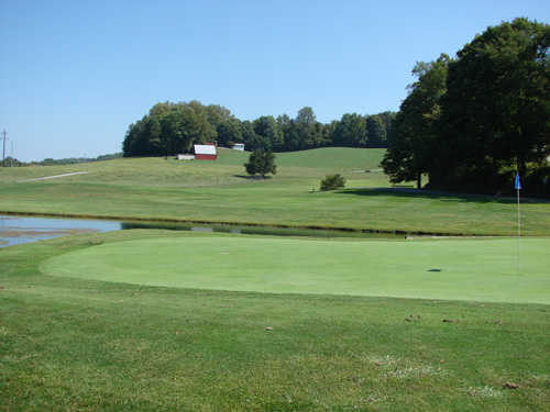 A view of the 3rd green at Buffalo Valley Golf Course