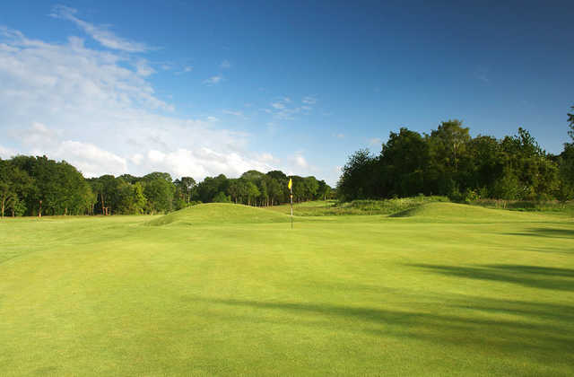 A view of hole #1 at Croham Hurst Golf Club