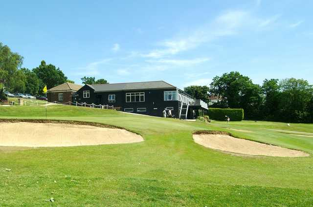 A view of the clubhouse at Enfield Golf Club
