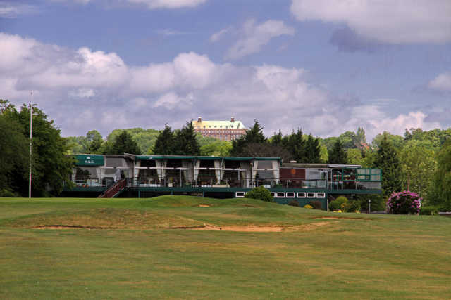 A view of the clubhouse at Hendon Golf Club