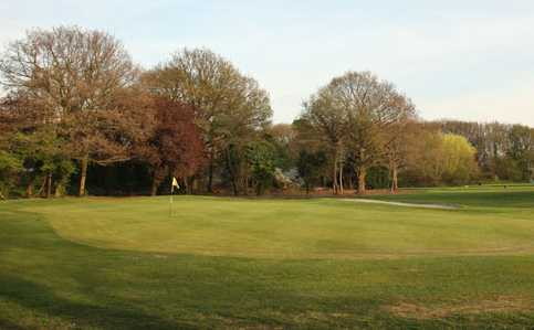 A view of hole #12 at Malden Golf Club
