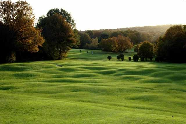 A view of fairway #16 at Northwood Golf Club