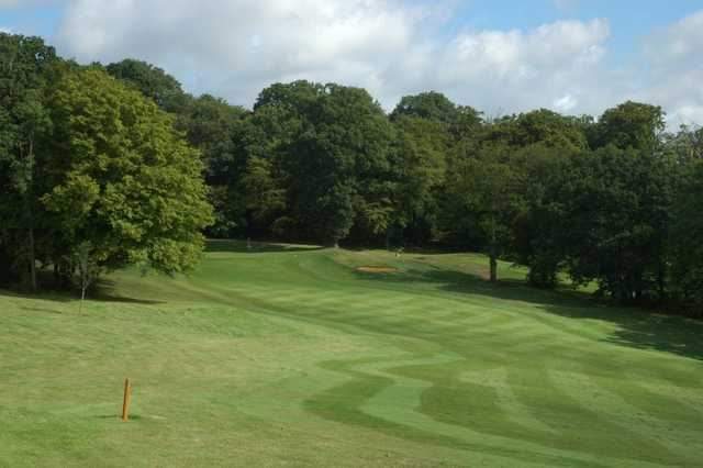 A view of a fairway at Pinner Hill Golf Club