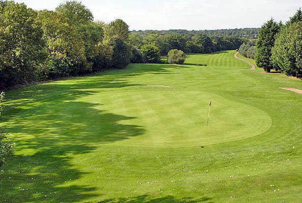 A view of green #18 at Trent Park Golf Club