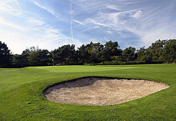 A view of the 15th hole at Trent Park Golf Club