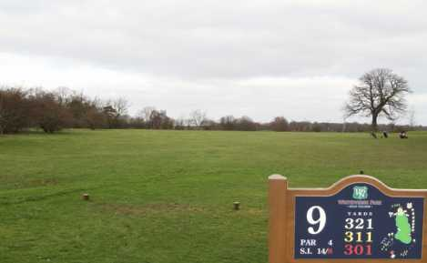 A view from tee #9 at Whitewebbs Golf Club