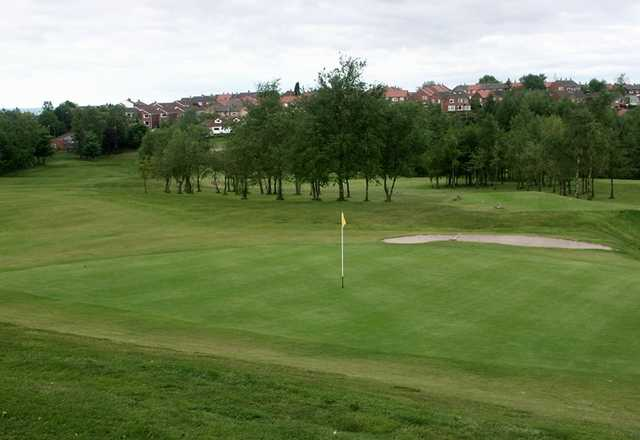 A view of green #9 at Ashton under Lyne Golf Club
