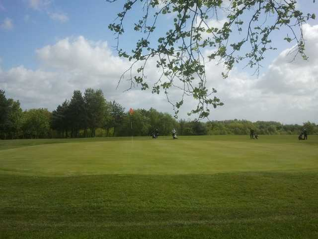 A view of the 5th green at Ashton-in-Makerfield Golf Club