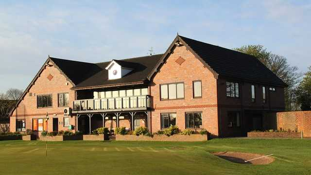 A view of the clubhouse at Ashton-on-Mersey Golf Club