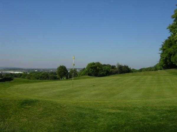 A view of green #3 at Bolton Golf Club