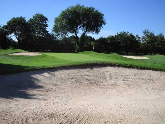 A view of green #4 at Chorlton-cum-Hardy Golf Club