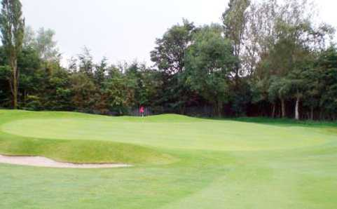 A view of the 13th green at Crompton & Royton Golf Club