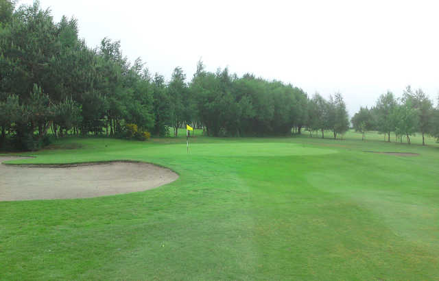 A view of green #5 at Dukinfield Golf Club