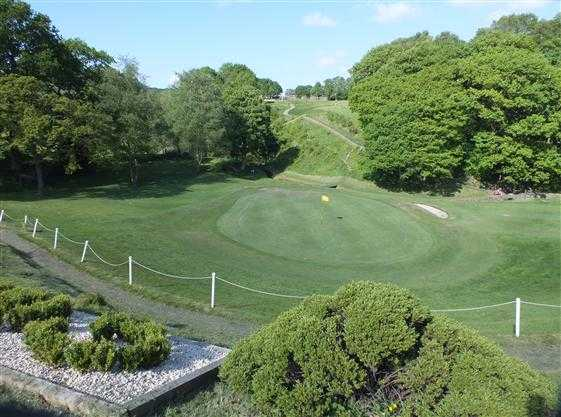A view of the 3rd green at Greenmount Golf Club