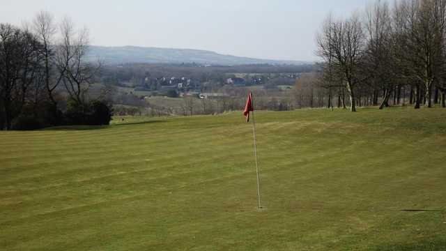 A view of the 18th green at Balcarres Course from Haigh Hall Golf Club