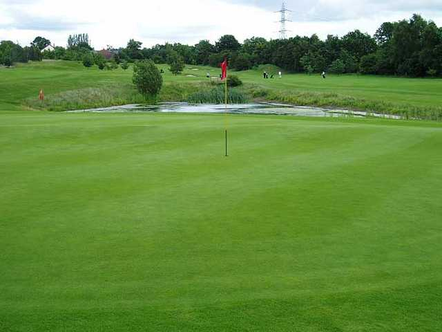 A view of the 15th hole at Hazel Grove Golf Club