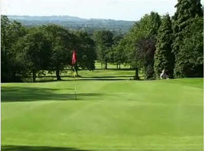 A view of a hole at Romiley Golf Club