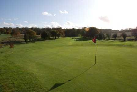 A view of the 8th green at Alresford Golf Club