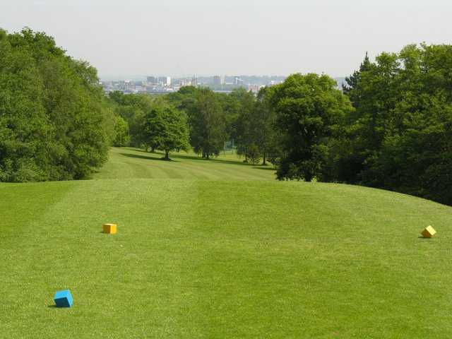 A view from tee #18 at Main Course from Dibden Golf Centre
