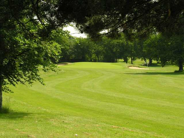 A view of fairway #12 at Main Course from Dibden Golf Centre