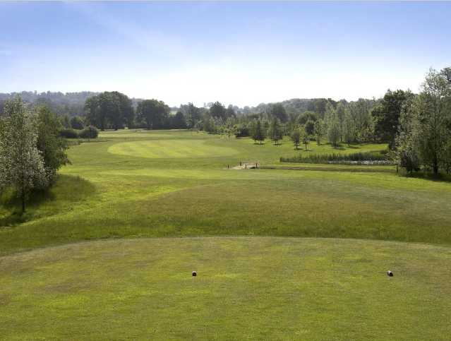 A view from tee at Hartley Wintney Golf Club