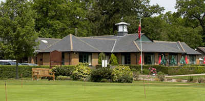 A view of the clubhouse at Hartley Wintney Golf Club