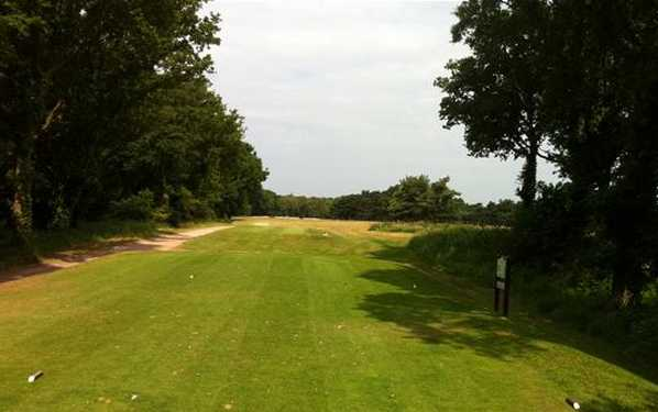A view from tee #18 at Lee-on-the-Solent Golf Club