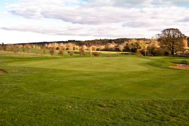 A view of a green at Championship Course from Petersfield Golf Club