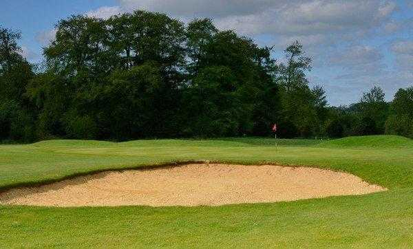 A view of the 8th hole at Manor Course from Hampshire Golf Club