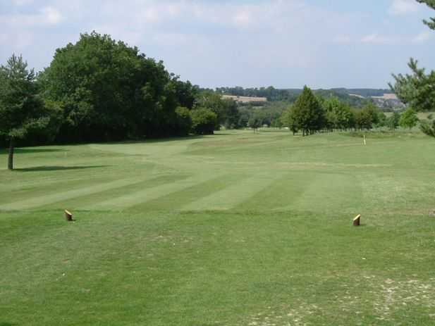 View from the 2nd teeat Worldham Golf Club
