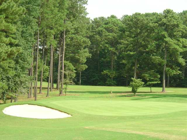 A view of the 13th hole at Piney Point Golf Club