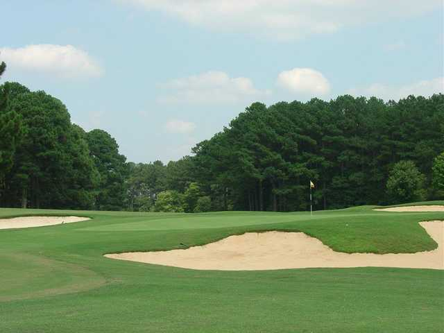 A view of the 7th hole at Piney Point Golf Club