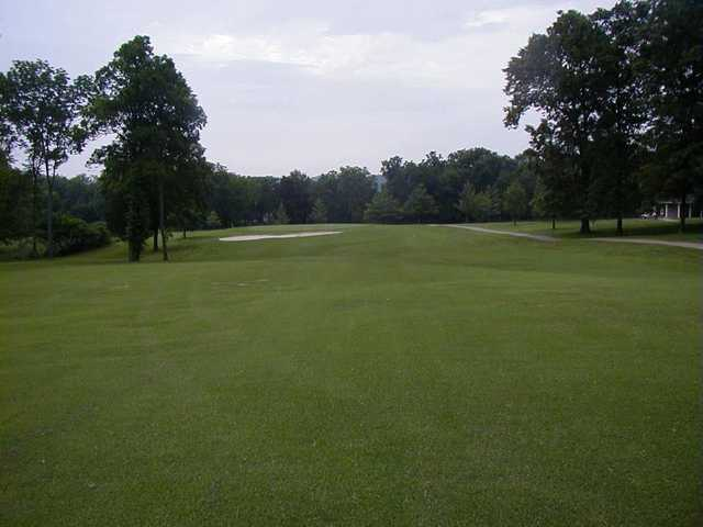 A view of the green at Rolling Hills Golf Course