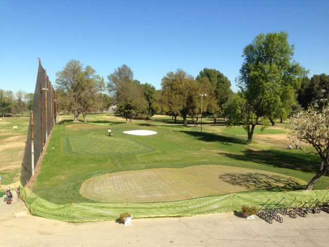 A view of the new practice area from Van Nuys Golf Course