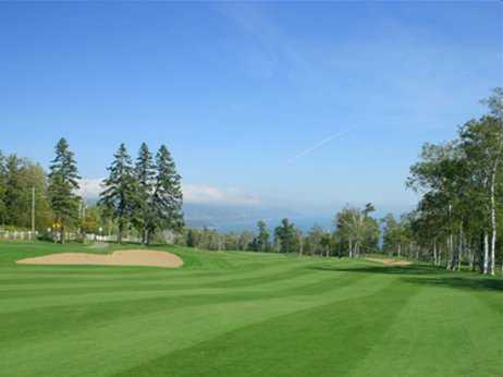 A view of the fairway and green at Van Nuys Golf Course