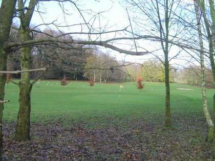 A view of the 3rd green at Abbey View Golf Course
