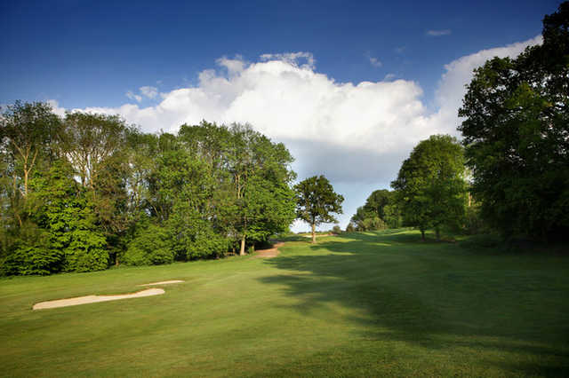 A view of the 2nd fairway at Park Course from Aldwickbury Park Golf Club