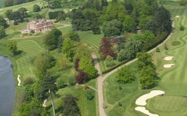 Aerial view from The Melbourne Golf Club at Brocket Hall