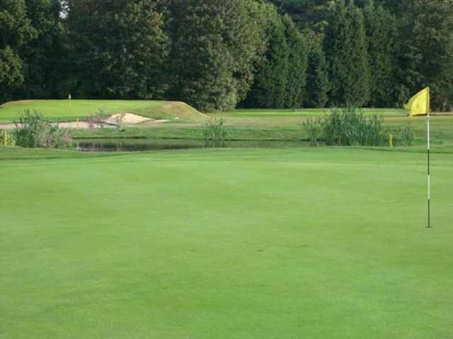 A view of hole #17 at Bushey Hall Golf Club