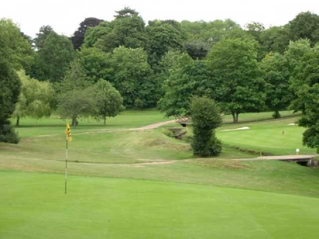 A view of the 10th green at Bushey Hall Golf Club
