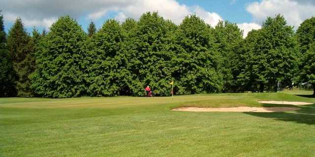 A view of green #2 at Knebworth Golf Club.