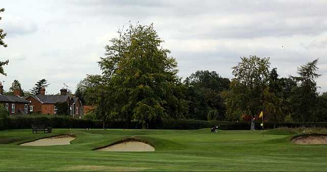 A view of hole #12 at Mid Herts Golf Club